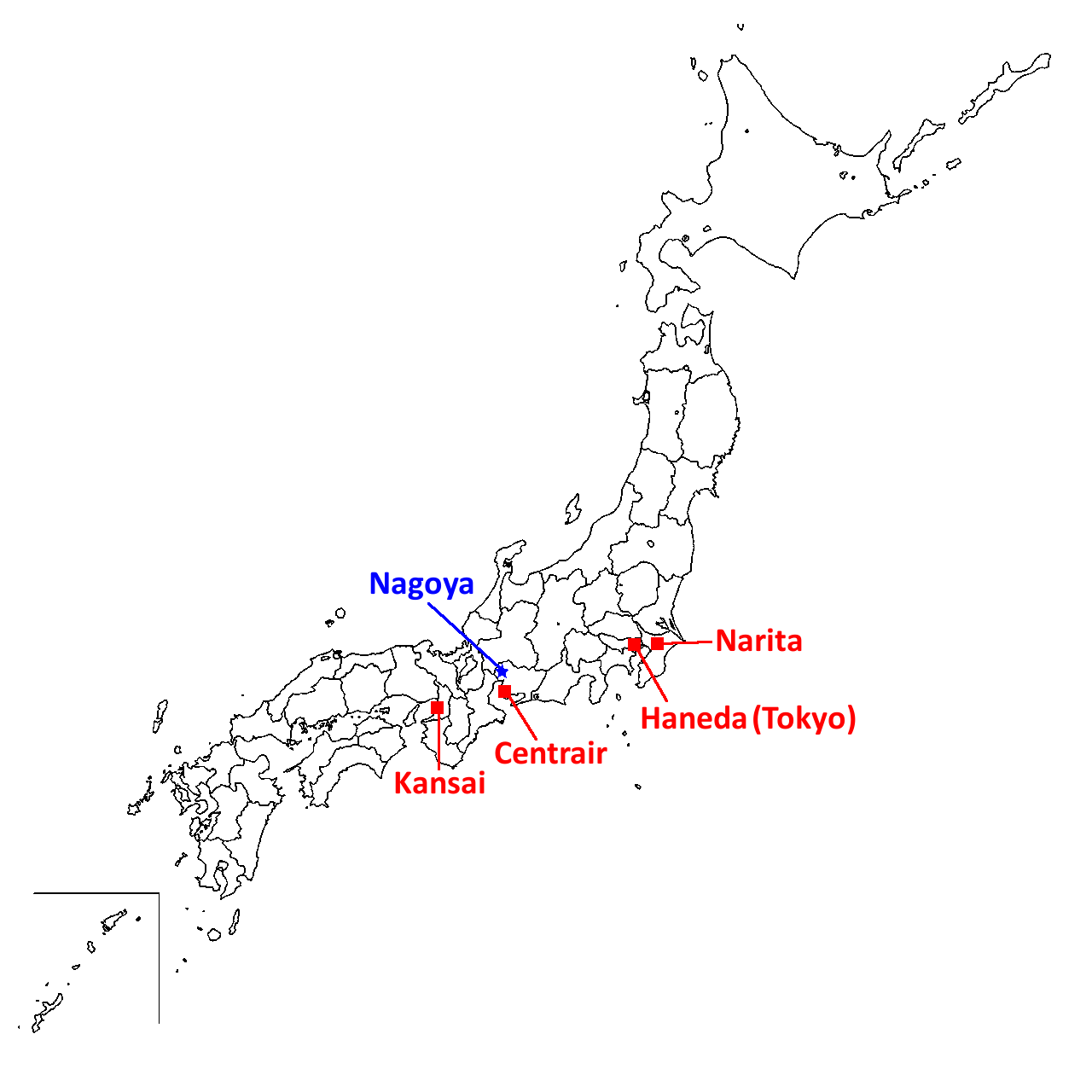FPCP - Japan map airports